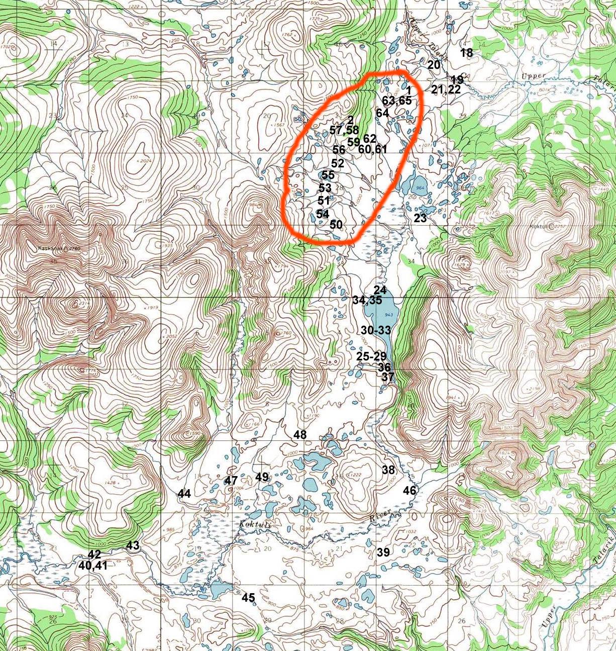 Mine Site Map Example: Pebble Mine Site Photos